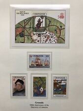 Granada 1992 Stamps, Discovery Of America, Columbus, MNH