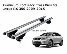 Aluminium Roof Rack Cross Bars fits Lexus RX 350 2009 - 2015