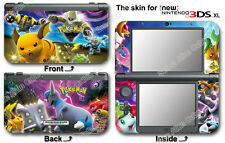 Pokemon Popular Skin Sticker Cover Vinyl Decal for NEW Nintendo 3DS XL ( 2015 )