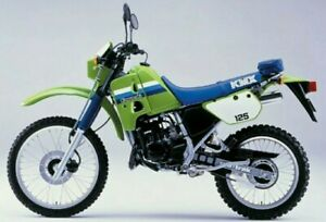 KAWASAKI KMX125 1986 DECAL KIT (GREEN BIKE VERSION)