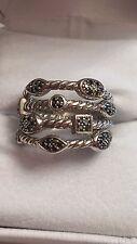 David Yurman Black Diamond Sterling Silver Confetti Ring