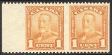 CANADA #149b Mint NH - 1928 1c Orange, Imperf Between Pair