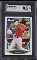 2013 BOWMAN DRAFT ROOKIE CHRISTIAN YELICH RC SGC 9.5