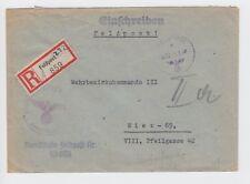 WW2 Registered Feldpost 28 055 Cover To Austria - Unit cachet