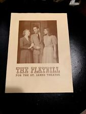 1942 The PLAYBILL4 St. James Theatre Ñ.Y. Program Book Magazine Play Collectible