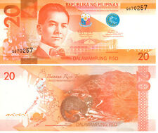 Philippines 20 Piso 2010 P206 Mint Unc