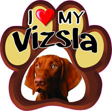I LOVE MY VIZSLA Cute Dog Bumper sticker PAW #193