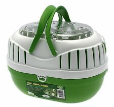 Happy Pet Animal Carrier Green Small Size for hamsters, gerbils, mice, reptile
