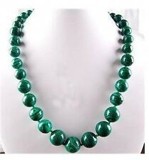 Natural 6-14mm Green Malachite Gem Beads Necklace AAA