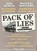"""Judi Dench """"PACK OF LIES"""" Barbara Leigh-Hunt / London Cast 1983 Opening Flyer"""