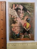 Antique 1880s Higgins' German Laundry Soap Victorian Trade Card Print Ad Bully