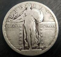 1919 P Standing Liberty Quarter Very Good VG or Fine F no problems