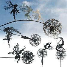 More details for metal fairies dandelions statue ornament dance garden ornament sculpture decor