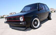 VW Golf 1 Caddy Jetta Spoiler Lame Inférieur Rajout De Pare-Chocs Avant Noir Mat
