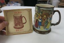 Royal Doulton Beswick 1972 2nd Ed Tankard Stein Mug Christmas Carol YULE 1972