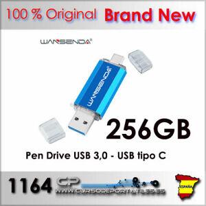Clé USB 256GB 256G Deux Entre One USB 3.0 + USB Type C Usb-C Brand Nouveau