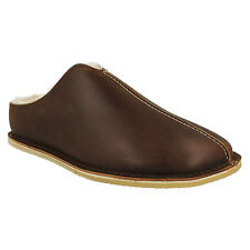 KITE STITCH MENS CLARKS WARM COSY WINTER LEATHER SLIP ON MULES SLIPPERS SHOES