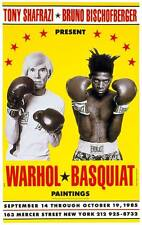 Andy Warhol and Jean-Michel Basquiat Boxing Collaborations Exhibition Art Poster
