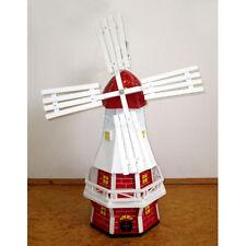 GARTENWINDMÜHLE OLIVIA 60 cm weiß rot Garten Deko Mühle Windmühlen Dekoration