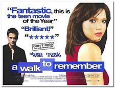 A WALK TO REMEMBER -2002- original 40x30 BRITISH QUAD Movie Poster - MANDY MOORE