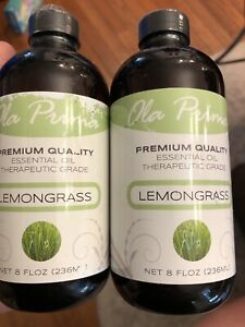 Lot Of Two-Ola Prima 8oz - Premium Quality Lemongrass Essential Oil -16 Ounces
