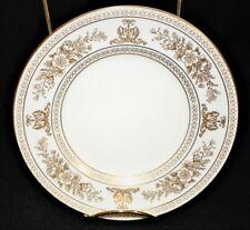 """Wedgwood Columbia 6"""" Bread Plate White w/ Gold Border Bone China #R4408"""
