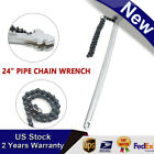 24' Chain Wrench Carbon Steel Ratcheting Wrench 22' Chain 6.7in. Capacity