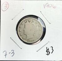 1906 Liberty V Nickel in the GOOD Range A Great Filler Coin Priced Right CHEAP!