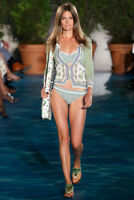 Tory Burch Joni Cardigan Printed XS Botanical Runway Spring Garden Party 0 2 NWT