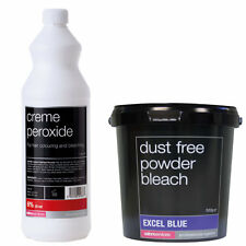 Salon Services Crème De Cheveux Peroxyde 6% 20 VOL 1 Litre Avec Bleu Poudre