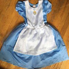 Disney Store Alice In Wonderland Costume Dress Girl's Size Large 10/12