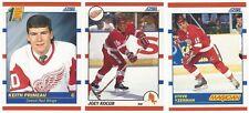 13 1990-91 SCORE HOCKEY DETROIT RED WINGS CARDS (PRIMEAU RC/YZERMAN+++)