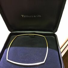 $4K Tiffany & Co Frank Gehry 18k Gold Torque Square Bangle Bracelet Perfection