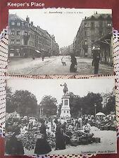 2 Luxembourg Place Du Marche And L'Avenue De La Gare Mounted Photo 8 x 12