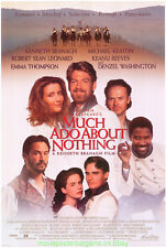 MUCH ADO ABOUT NOTHING MOVIE POSTER Style A  27x40 SHAKESPEARE DENZEL WASHINGTON