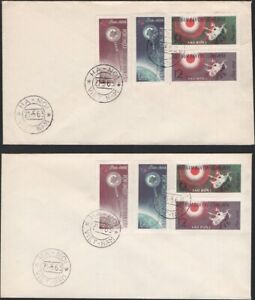 NO. VIETNAM, 1963. First Day Covers Mars 1 Space, 251-254, Perf/Imperf