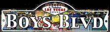 BOYS BLVD - Welcome To Fabulous Las Vegas Street Sign (Laminated Plastic)