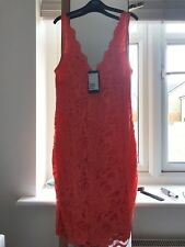 H&M Size S Coral Lace Bodycon Dress