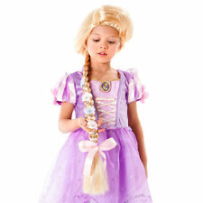 Disney Store Deluxe Tangled Princess Rapunzel Costume Wig w Braid Girls Dress Up