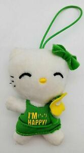 "Hello Kitty by Sanrio 2009 McDonalds Happy Meal Plush I'M HAPPY 4"" Doll"