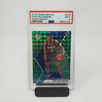 2019-20 Mosaic Zion Williamson Green Prizm Rookie RC #209 PSA 9 MINT Pelicans