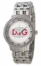 Dolce & Gabbana D&G DW0144 Prime Time Silver Tone Womens Watch with Crystals
