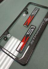Handmade carbon fiber C7 Z06 Corvette License Plate Frame badges Z51 Stingray