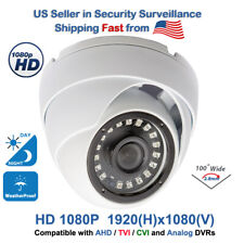 Wide Angle Security CCTV Camera 1080p Day Outdoor Night Vision Dome Eyeball HD