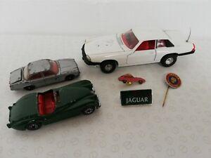 Job Lot Of Jaguar Automobilia Matchbox Corgi Lapel Pins XJS XK120 XJ6 4.2 E Type