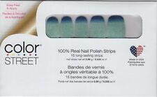 COLOR STREET Nail Strips Long Time No Sea 100% Nail Polish -Made in the USA!