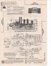 1964 PHILCO M-1430 RECORD PLAYER CHANGER SERVICE MANUAL SCHEMATIC DIAGRAM FIX