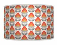 Retro Flower Orange LAMPSHADE DRUM PENDANT CEILING LIGHT TABLE  LAMP SHADE 792