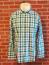Express Long Sleeve Spread Collar Button Front Shirt Mens XL (17-17 1/2) Fitted