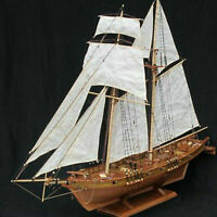 New 1:100 Halcon Wooden Sailing Boat Model DIY Kit Ship Assembly Decoration Gift
